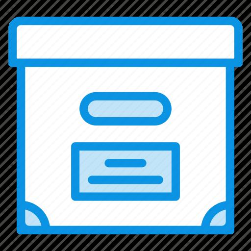 archive, box, documents icon
