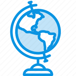 earth, education, geography, globe, knowledge, learn, map, study icon