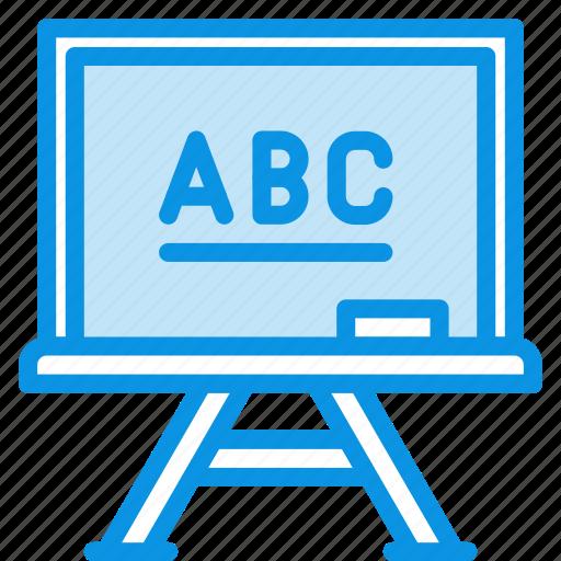 chalkboard, education, learn, school icon