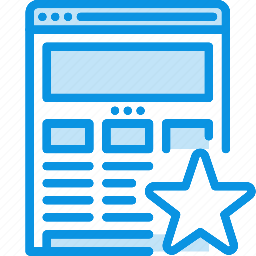 bookmark, browser, internet, responsive, star, web, website, wireframe icon