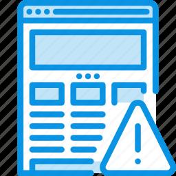 alert, browser, error, internet, responsive, web, website, wireframe icon