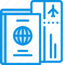 boarding, flight, id, pass, passport, ticket, travel icon