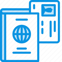 card, document, driver, id, international, license, passport, travel icon