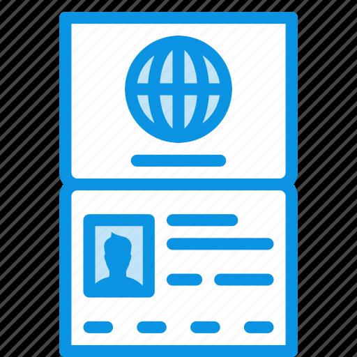 citizen, document, id, identity, international, pass, passport, travel icon