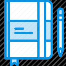 design, draft, draw, moleskine, notes, sketch, write icon