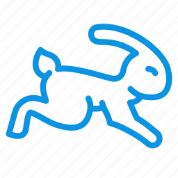 animal, fast, nature, quick, rabbit, speed icon