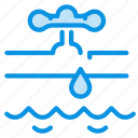 burst, flood, pipe icon