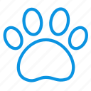 animal, dog, footprint icon