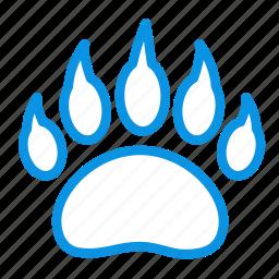 animal, bear, clutches, foodprint, predator, trace icon