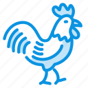chicken, cock, rooster icon