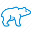 animal, bear, brown, grizzly, white icon