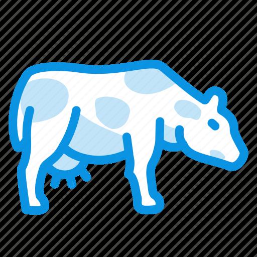 cow, milk, udder icon