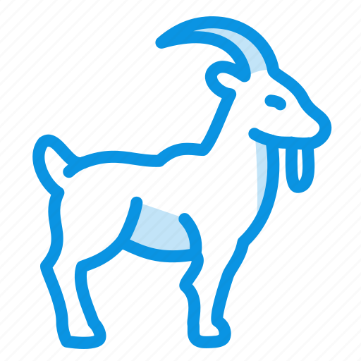 animal, goat, horns, mammal icon