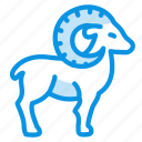 animal, goat, mountain, mutton, ram, sheep icon