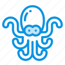 animal, marine, nature, nautical, ocean, octopus, sea, water icon