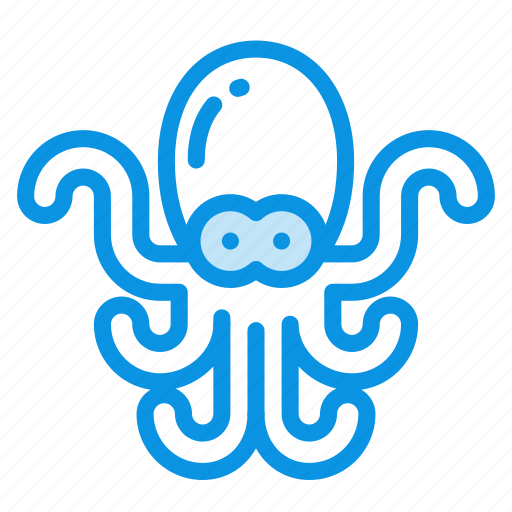 animal, marine, nature, nautical, ocean, octopus, sea, water icon