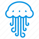 animal, jellyfish, marine, medusa, ocean, sea, water icon