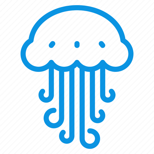 animal, jellyfish, marine, medusa, ocean, sea, water icon