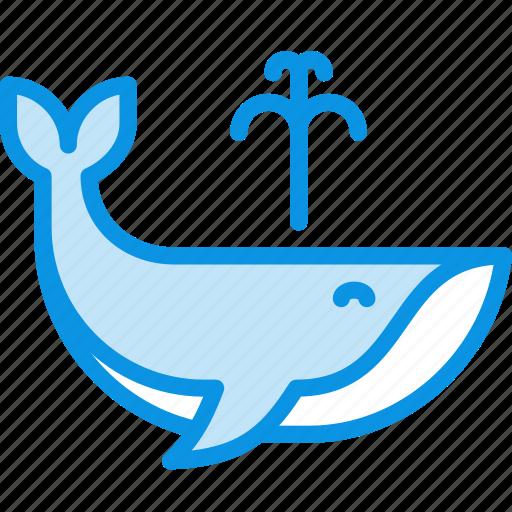 fountain, whale icon