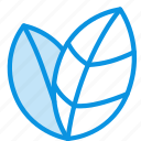ecology, leaves, nature icon
