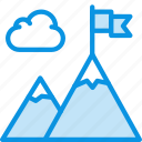 business, flag, mountains icon