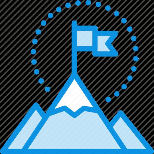 flag, mountains icon