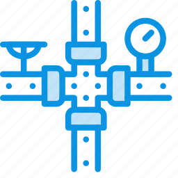consumption, economy, gas, gauge, meter, pipe, water icon