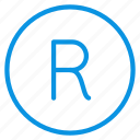 trademark, rights, registered icon