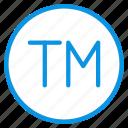 logo, tm, trademark, unregistered icon