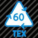 cotton, recycle, tex icon