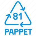 composite, materials, pappet, recycle icon