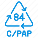composite, cpap, materials, recycle icon