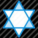 david, jewish, star icon