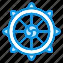 buddha, dharma, wheel icon