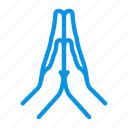 hands, plea, pray icon