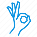 allright, cool, gesture, ok icon