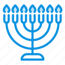 candle, hebrew, lampstand, menorah icon
