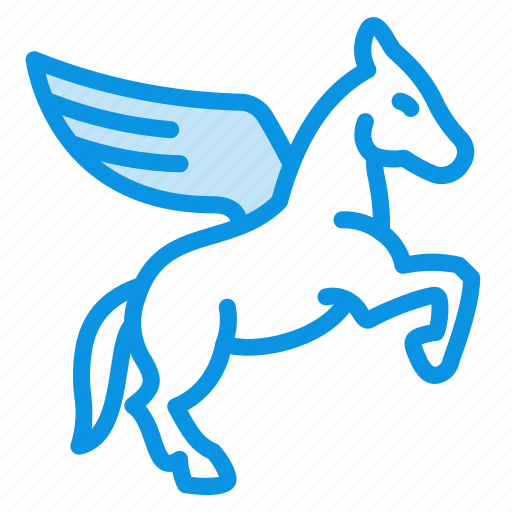 horse, pegasus, wing icon