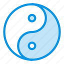 philosophy, yang, yin icon