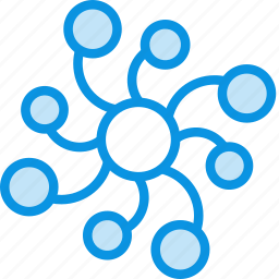 biology, connections, network, neural, neuron, neuronal, science icon
