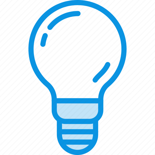 idea, incandescent, lamp, light, spherical icon