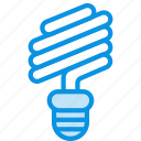 energy saving, lamp, spiral icon