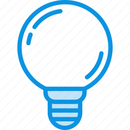 lamp, led, spherical icon