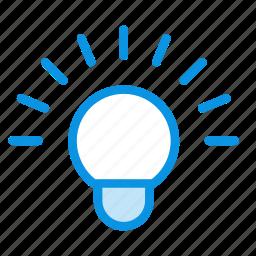 bluetooth, color, idea, lamp, wifi icon
