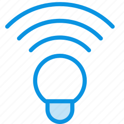 lamp, wireless icon