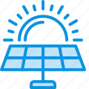 battery, eco, energy, panels, science, solar, sun icon