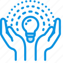 care, hands, lamp icon
