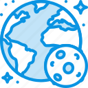 earth, globe, moon, planet, science, solar, space, system icon