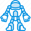 astronaut, cosmos, robot, science, space, suit icon