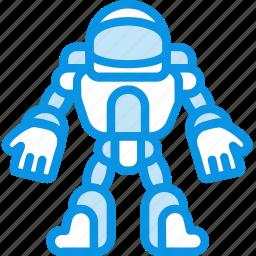 astronaut, robot, space icon